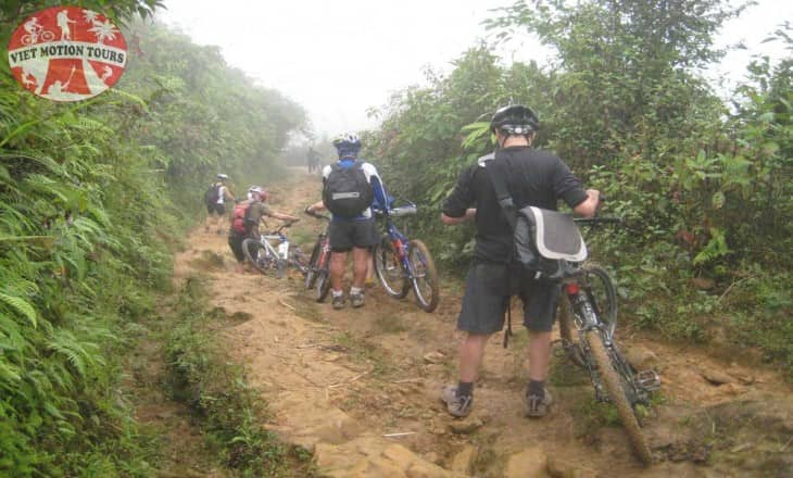 Heavy Rain Mountain Biking