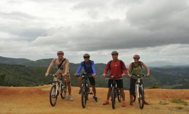 Cycling Through countryside of Da Lat